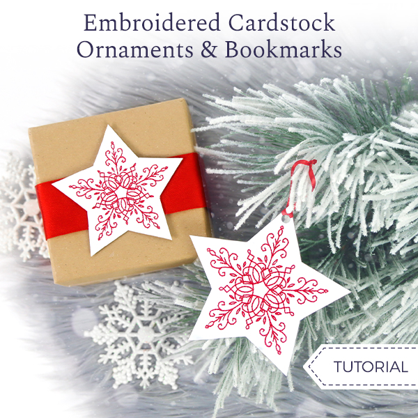 Embroidered Cardstock Ornament