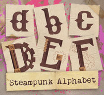 Steampunk Alphabet (Design Pack)